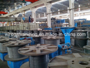 Steel Wire Pay-off Pre-Cleaning Annealing Take-up Production Line pictures & photos