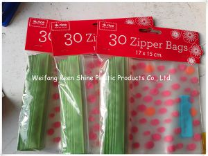 Ziplock Bags with Double Track Line on Flap pictures & photos