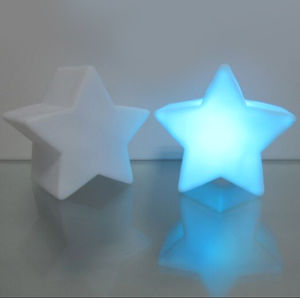 Star Shape LED Glowing Light with Logo Printed (4030)