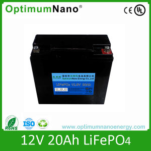 Rechargeable 12V 20ah LiFePO4 Battery with Cables
