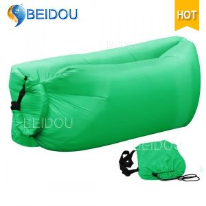 Single Mouth Air Lazy Bean Bag Inflatable Camping Banana Sleeping Bags Inflatable Air Sofa Bed
