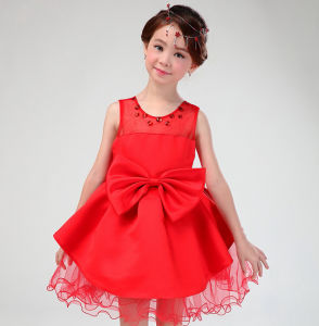Factory Price Flower School Girl Party Dress pictures & photos