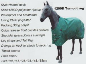 Horse Gear 1200d Turnout Rug & 1200d Neck Rug