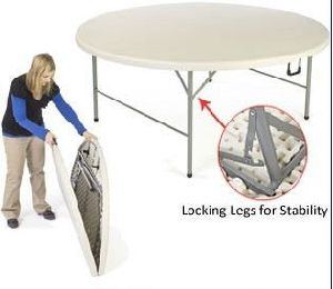 Folding in Half Round Dining Table pictures & photos