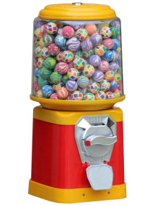 Round Gumball & Candy Vending Machine (TR618R-M) pictures & photos