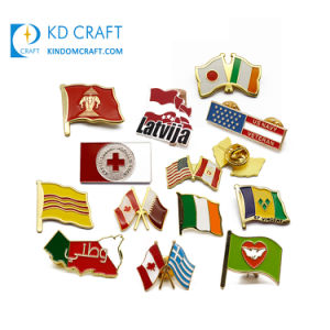 Country Flag Lapel Pin for Bag Clothes Hat USA Canada France Australia Russia UK