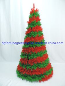 Plastic Christmas Tree.6ft Home Decoration Red Green Artificial Christmas Pvc Gift Tree