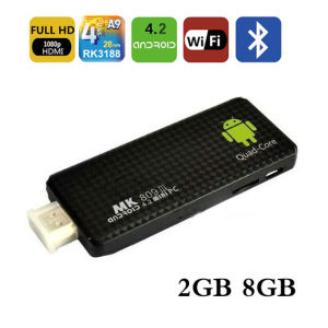 MK809III Quadcore CPU 1.6GHz 2g RAM+8g ROM Android4.2 Quad Core Rk3188 Smart TV Dongle