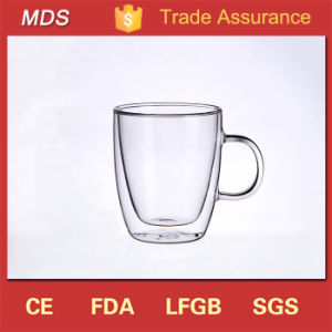 Best Price Products Double Wall Glass Coffee Mug with Handle pictures & photos