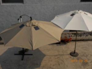 outdoor umbrella with solar lights shade solar lighting outdoor patio metal cantilever garden umbrella china