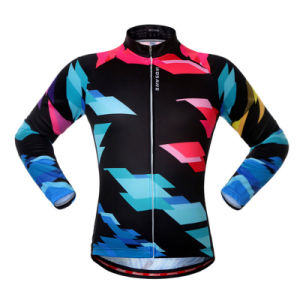Custom Women Sublimated Long Sleeves Cycling Jersey pictures & photos
