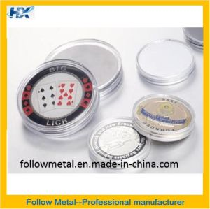 Customized Coin with Round Plastic Box