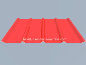 Metal Prepainted Trapezoid Panel for Facades and Wall Cladding (vermilion2002) pictures & photos