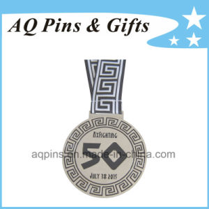Souvenir Medals with White Printed Ribbon pictures & photos