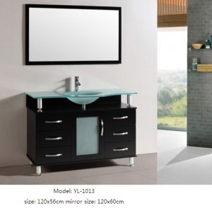 Sanitary Ware Bathroom Furniture with Glass Sink