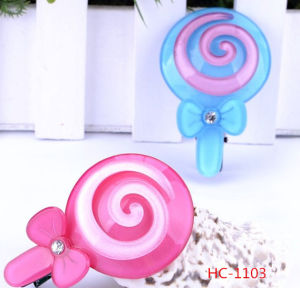 New China Supplier Lollipop Hair Clip for Children