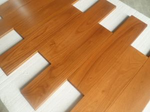 Chinese Golden Teak Solid Wood Flooring