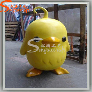 Kindergarten Decoration Artificial Crafts Big Yellow Duck Statues pictures & photos