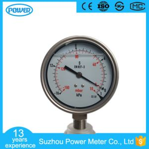 100mm 4′′ All Stainless Steel Oil Filled -16-1kpa Bellows Manometer pictures & photos
