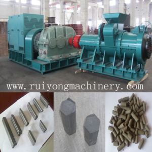 Charcoal Briquette Rod Extruder / Coal Powder Screw Extruding Machine pictures & photos