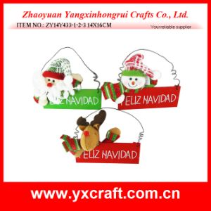 Christmas Decoration (ZY14Y171-1-2-3) Wood Hanging Christmas Welcome Sign Board pictures & photos