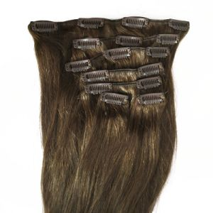 Full Head Human Remy Clip in Human Hair Extension