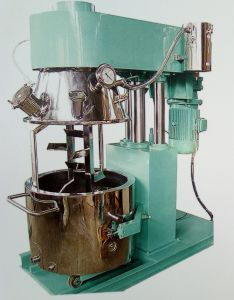 Neutral Silicon Gantry Type Dual Shafts Planet Mixing Machine Single Armed Mixer pictures & photos