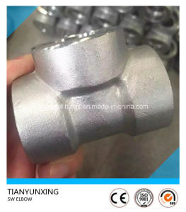 High Pressure 304 Stainless Steel Forged Socket Weld Elbow pictures & photos