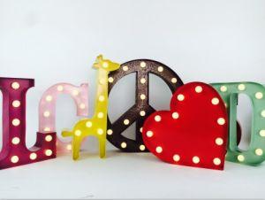 carnival home decorative vintage sign logo channel led metal letter lights