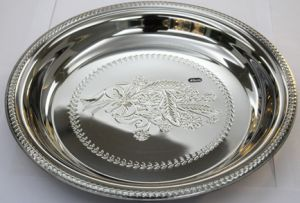 Stainless Steel Flower Round Tray Thai Plate (CF-0100)