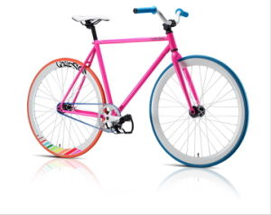 Hot-Sale Pink Single Speed Fixed Gear Bicycle