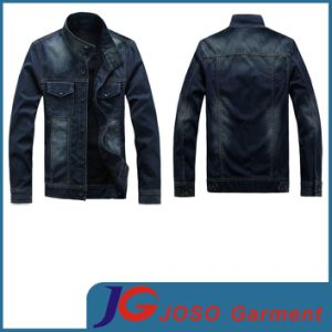 Designer Jeans Men Dark Blue Jean Coat (JC7035)