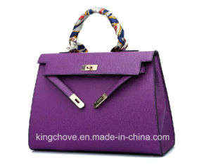 High Quality and Elegant PU Ladies Tote Handbag (KCH132)