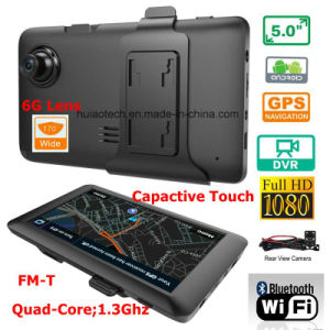 "New 5.0"" Car Tablet PCS MID with Car DVR, 5.0mega Car Digital Video Camera, Parking Rearview Camera, Bluetooth, FM-Transmitter, AV-in, WiFi pictures & photos"