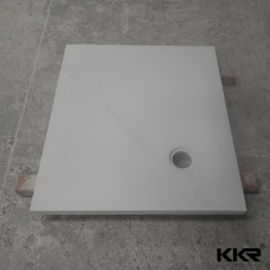 Artificial Stone Solid Surface Bathroom Shower Base for Project pictures & photos
