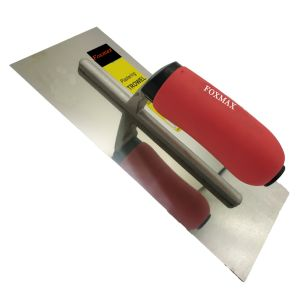 """Stainless Steel Plastering Trowel 11"""" Soft Red Handle Fpt24"""