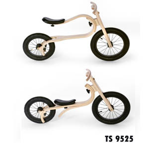 Children Wooden Multifunctional Balance Bike Kid Walking Bike