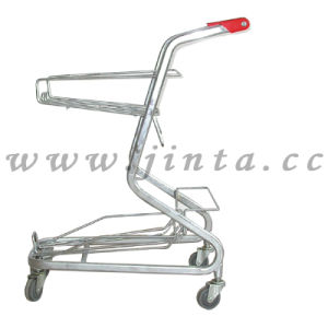 Shopping Baskets Carts, Double Deck Shopping Trolley (JT-E17) pictures & photos