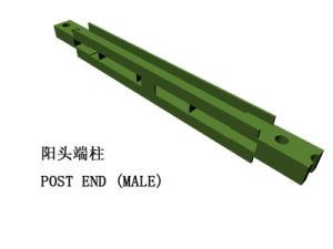 Bailey Steel Bridge Component-Male End Post
