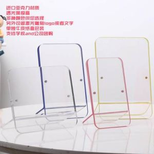 Office Table Counter Photo Display Clear Magnetic L Shape Acrylic Picture Frame pictures & photos
