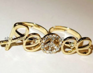 Finger Ring/Two-Finger Alloy with Crystal Plated Ring/ Fashion Jewelry (XRG12080) pictures & photos