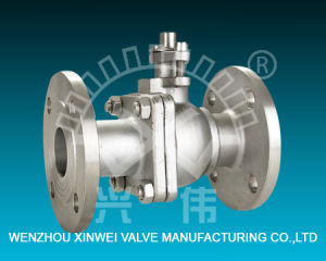Two-Piece Stainless Steel Flange Ball Valve pictures & photos