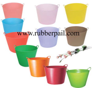 Garden Bucket Plastic Bucket Flexible Bucket, Tubtrug Pail