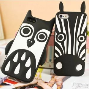 Marc Creatures Cute 3D Cartoon Silicon Case Zebra Case for iPhone4s 5s