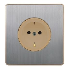 British Standard Stainless German-Style Wall Socket