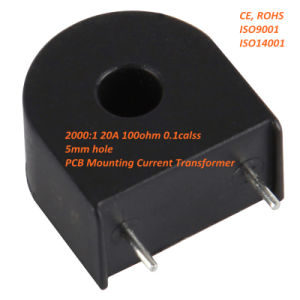 Zmct102AA 2000: 1 20A 100ohm 0.1calss 5mm Hole Mini PCB Mounting Current Transformer pictures & photos