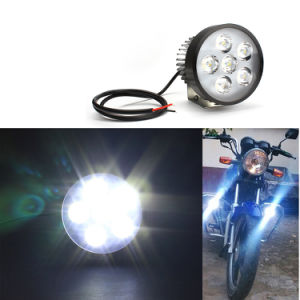 12-85V Universal Super Bright 18W Motorcycle 6 LED Head Light Driving Fog Spot Work Lamp External Working Headlight pictures & photos