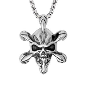Gothic Skull Necklace Pendant 316L Stainless Steel Fashion Jewellery