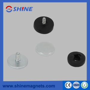 D22mm Rubber Covered Pot Magnet with M4 Threaded Stud pictures & photos