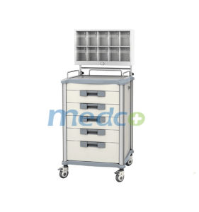 Aluminium & ABS& S. S Treatment Cart Medicine Trolley for Patient pictures & photos